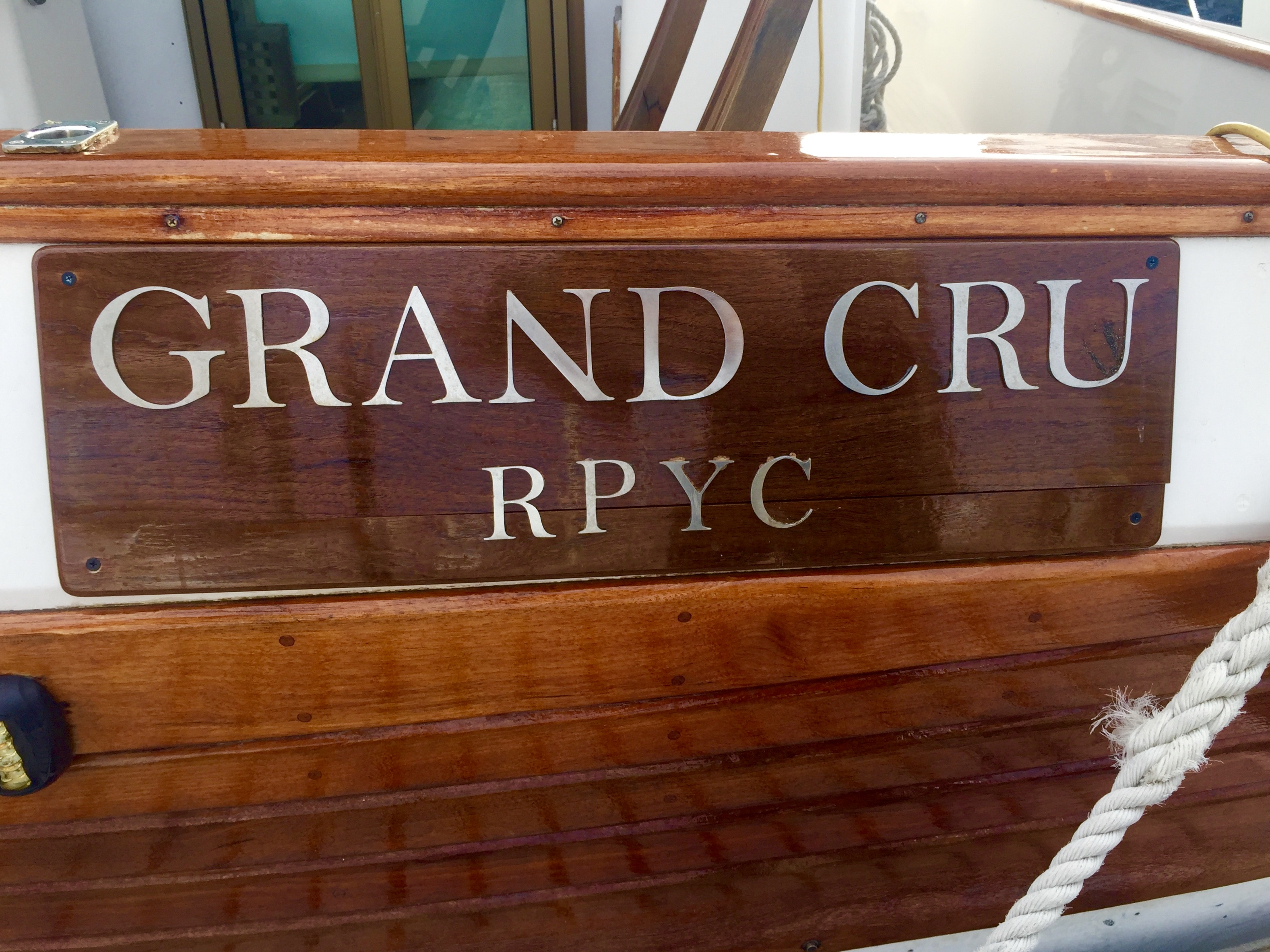 Grand Cru Sign and Woodwork